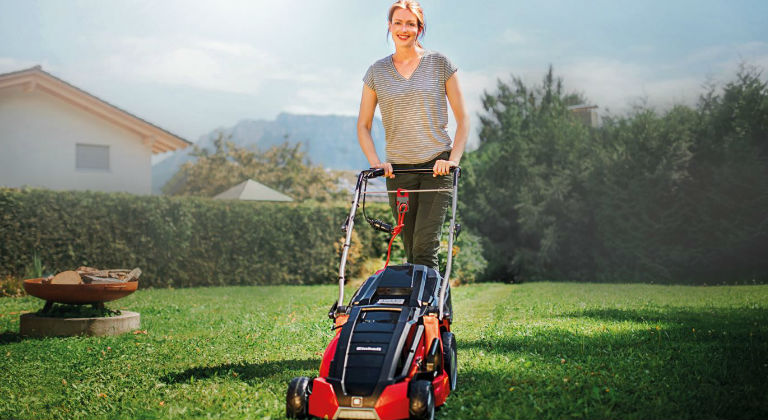 A electric lawn mower