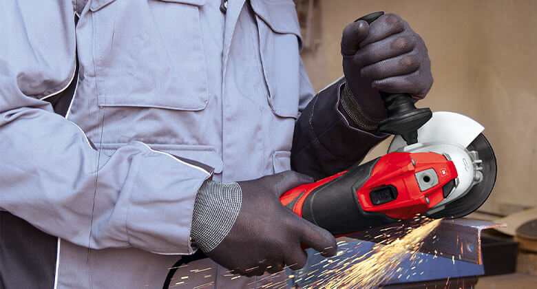 Einhell electric angle grinder