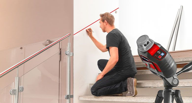 Measuring with a Cross line laser from Einhell