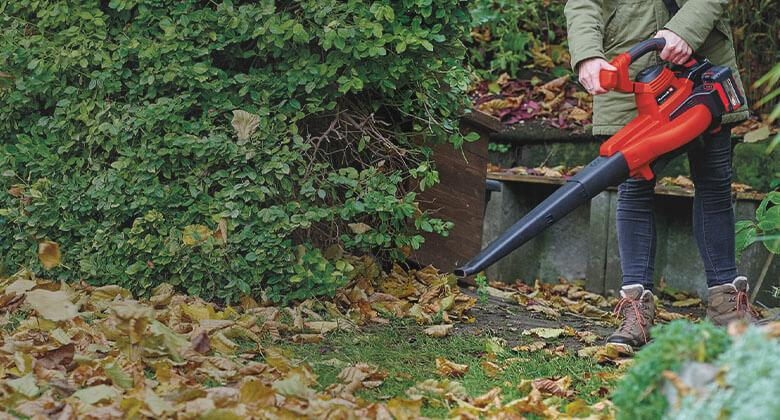 Cordless leaf blower from Einhell