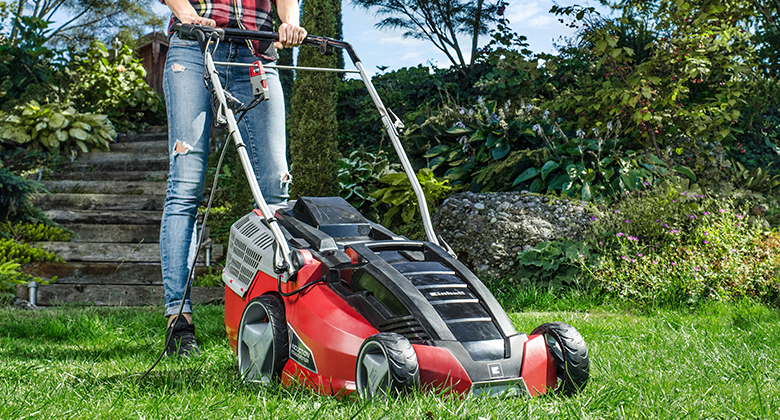 Picture of a Einhell electric lawnmower